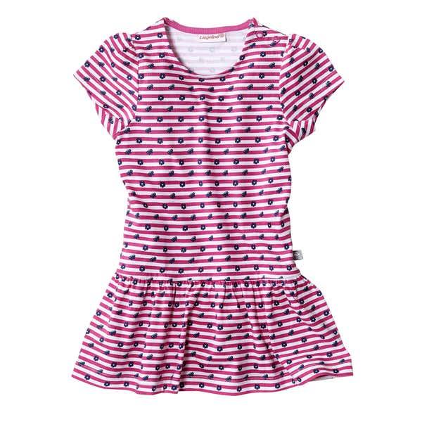 Baby-Mädchen-Kleid mit Schmetterlingen und Punkten