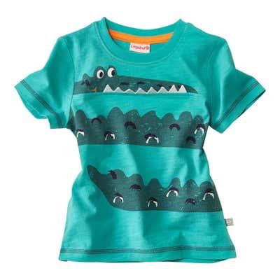 Baby-Jungen-T-Shirt mit aufgenähten Details