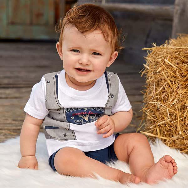Baby-Jungen-Strampler mit süßer Weste
