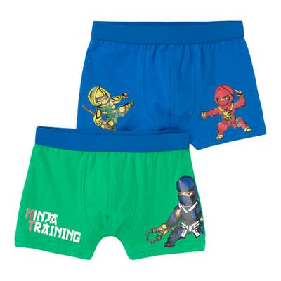Jungen-Retroshorts mit Ninja-Aufdruck, 2er Pack