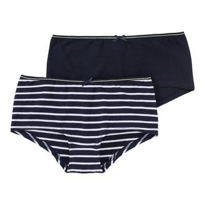 Mädchen-Panty mit Streifenmuster, 2er Pack