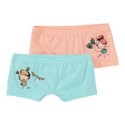 Mädchen-Panty mit hübschem Aufdruck, 2er Pack