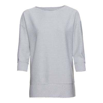 Damen-Sweatshirt mit Ringel-Strukturmuster