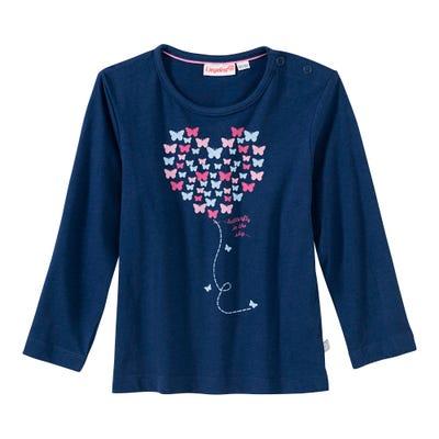 Baby-Mädchen-Shirt mit Schmetterlings-Herz