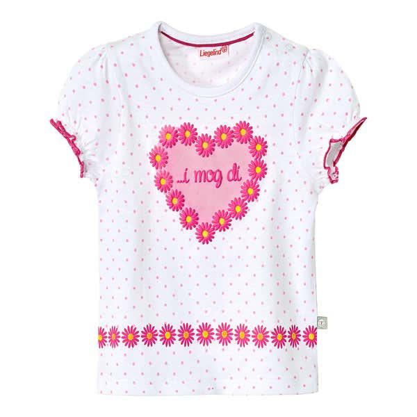 Baby-Mädchen-T-Shirt im angesgaten Trachtenstyle