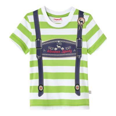 Baby-Jungen-T-Shirt mit grünen Streifen