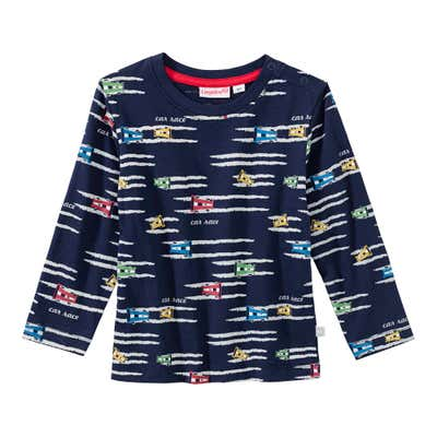 Baby-Jungen-Shirt mit Rennauto-Muster