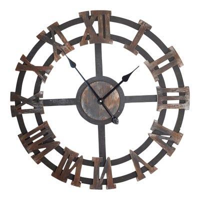 Wanduhr mit römischen Ziffern, Ø ca. 64x6cm