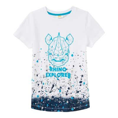 Jungen-T-Shirt mit Farbverlaufs-Optik