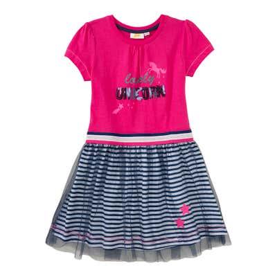 Mädchen-Kleid mit Streifenmuster