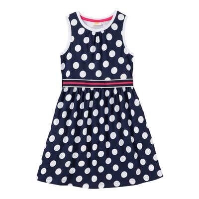 Mädchen-Kleid mit Punkte-Muster