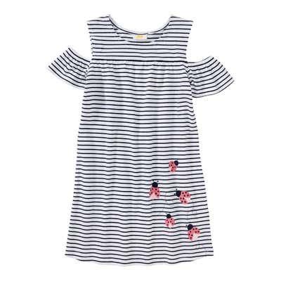 Mädchen-Kleid mit offener Schulter