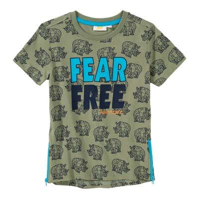 Jungen-T-Shirt mit seitlichen Reißverschlüssen