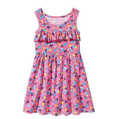 Kinder-Mädchen-Kleid mit Blumenmuster