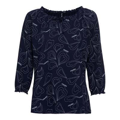 Damen-Shirt mit spannendem Muster