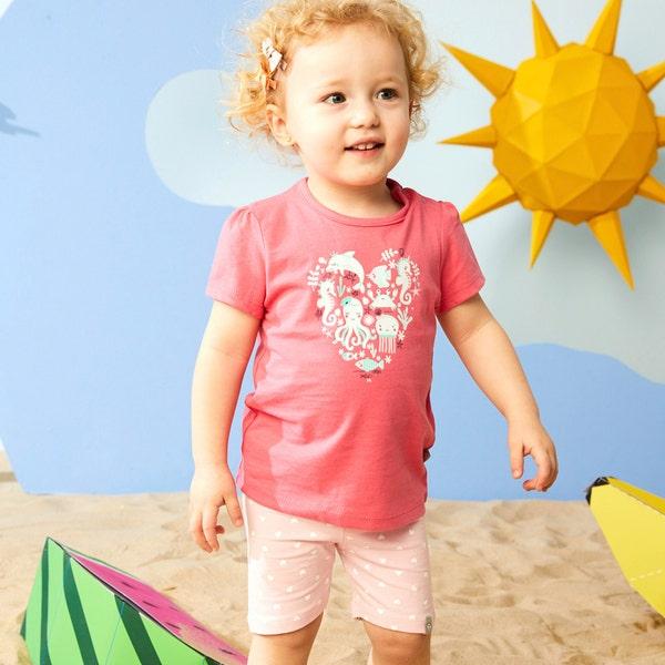 Baby-Mädchen-Radlerhose im vorteilhaften 2er-Pack