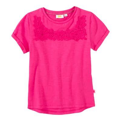Mädchen-T-Shirt mit Spitzen-Applikation