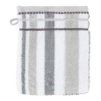 Waschhandschuh mit trendogem Streifendesign, 16x21cm