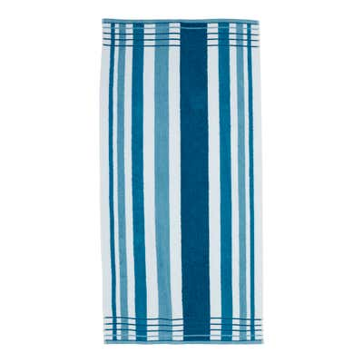 Duschtuch mit trendigem Streifendesign, 70x140cm