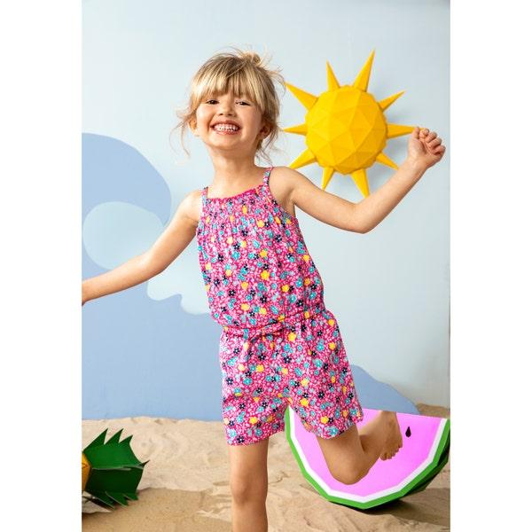 Kinder-Mädchen-Jumpsuit mit Blumenmuster