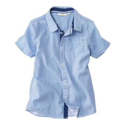 Kinder-Jungen-Hemd mit kleiner Brusttasche