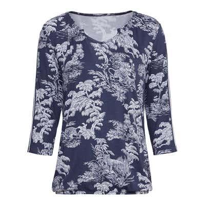 Damen-Shirt mit Bündchen am Saum