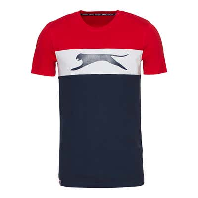 Slazenger Herren-Fitness-T-Shirt mit Farbblock-Design