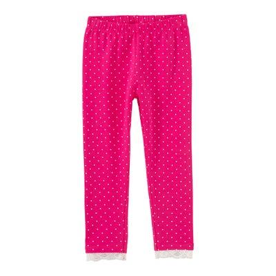 Mädchen-Leggings mit Punkte-Muster
