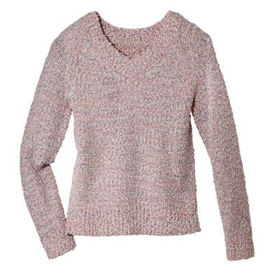 Damen-Bouclé-Pullover mit Pailletten