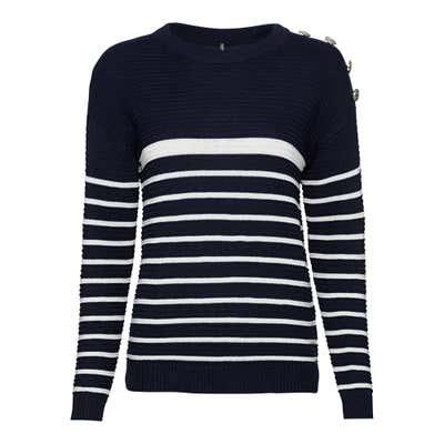 Damen-Pullover mit trendigem Streifendesign