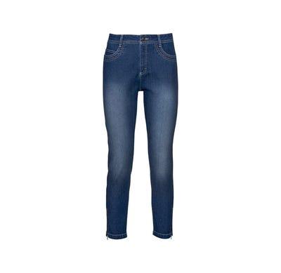 Damen-Jeans mit Reißverschlüssen am Beinende