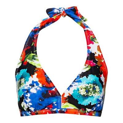 Damen-Bikini-Oberteil mit floralem Muster