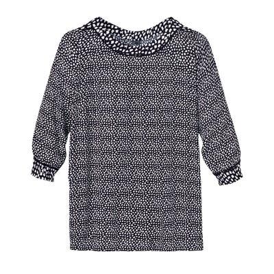 Damen-Bluse mit Tupfen-Muster, große Größen
