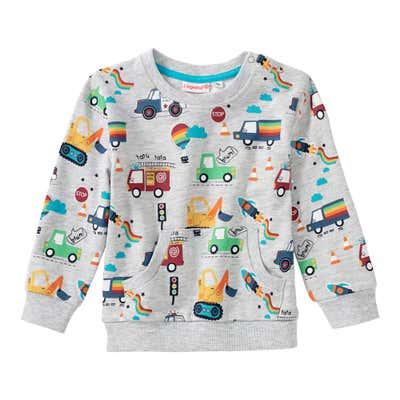 Baby-Jungen-Sweatshirt mit Fahrzeug-Muster