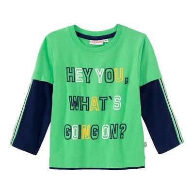 Baby-Jungen-Shirt mit Kontrast-Ärmeln