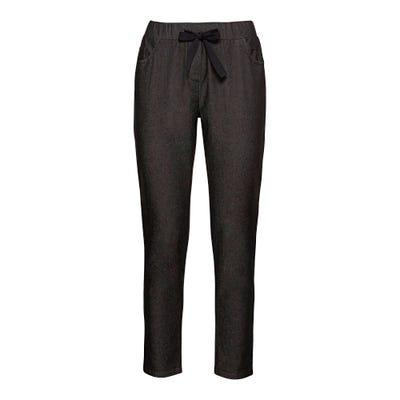 Damen-Joggpants mit glitzerndem Zierband