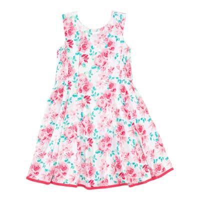 Mädchen-Kleid mit Rosenmuster