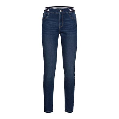 Damen-Jeans mit gestreiftem Bund