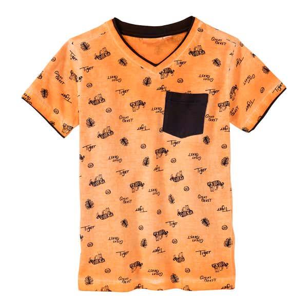 Jungen-T-Shirt mit Tiger-Muster
