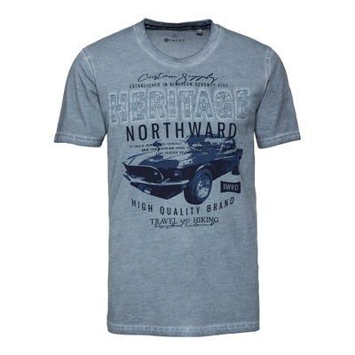 Herren-T-Shirt mit Auto-Frontaufdruck