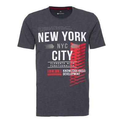 Herren-T-Shirt mit modernem Frontaufdruck