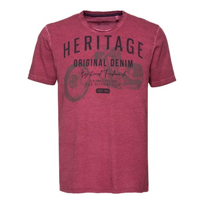 Herren-T-Shirt mit Motorrad-Frontaufdruck