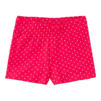 Mädchen-Shorts mit Punkte-Muster