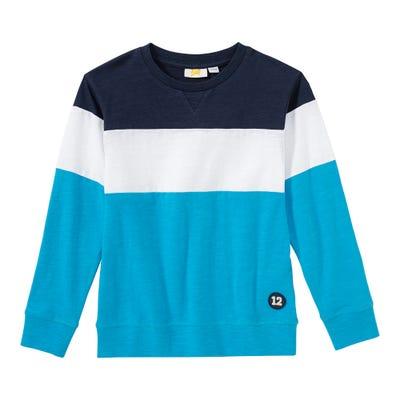 Jungen-Shirt mit Blockstreifen