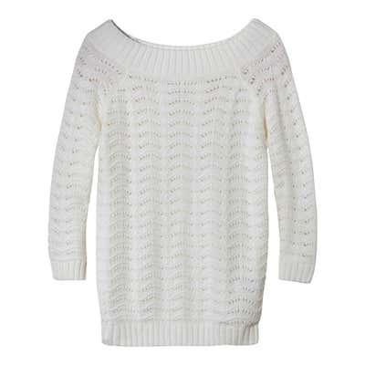 Damen-Pullover mit trendigem Lochmustereffekt