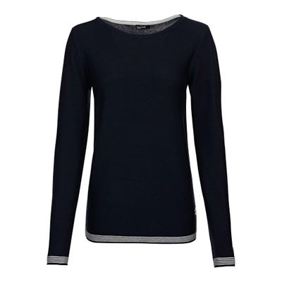 Damen-Pullover mit Kontrast-Streifen