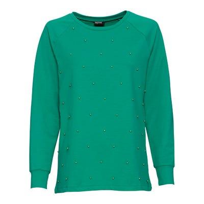 Damen-Sweatshirt mit Schmuckperlen