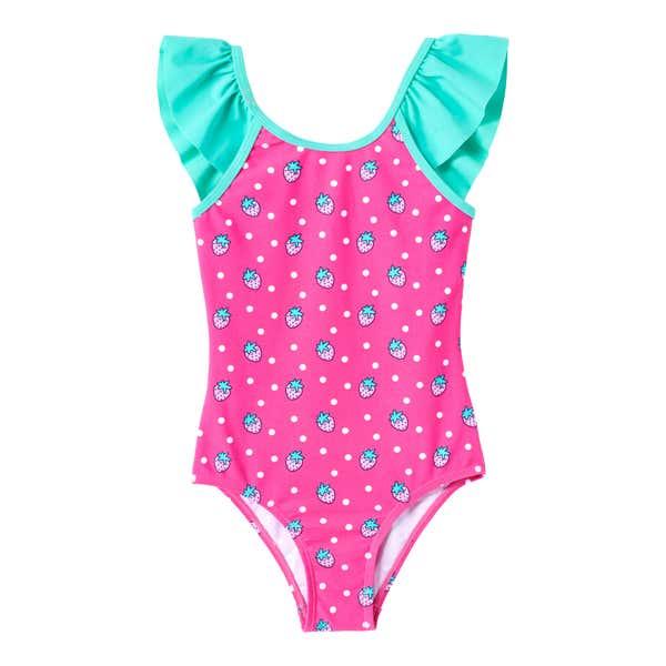 Kinder-Mädchen-Badeanzug mit traumhaften Rüschen