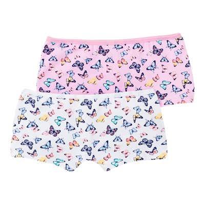 Mädchen-Panty mit Schmetterlings-Muster, 2er Pack