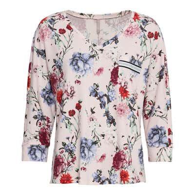 Damen-Sweatshirt mit Blumenmuster